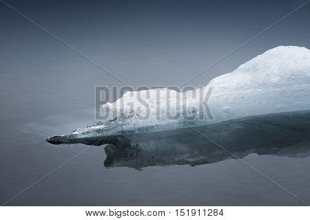 Photo of blue frozen ice closeup macro