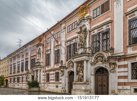 Institute of the Blessed Virgin Mary in the old city centre of Sankt Polten Austria