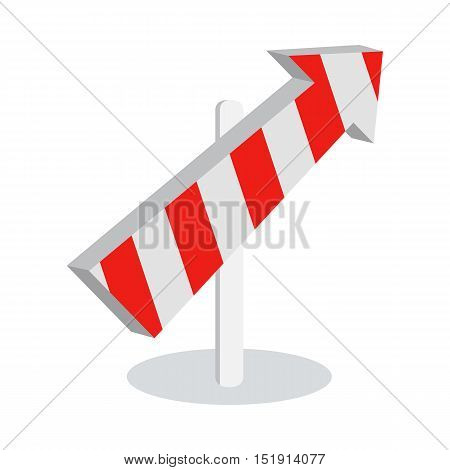 Direction arrow icon isolated on white background. New level at something. Going in the following stage at achieving something new. Choosing the right way. Moving forward. Vector illustration