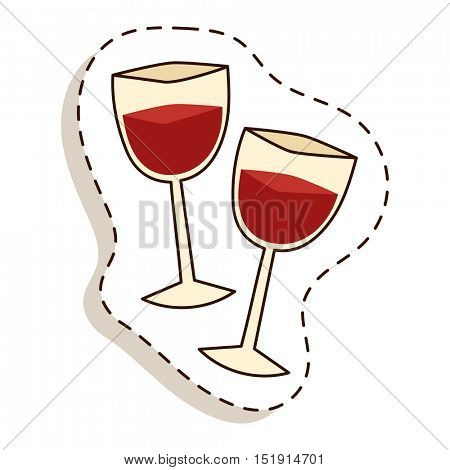 Glass wine vector illustration.