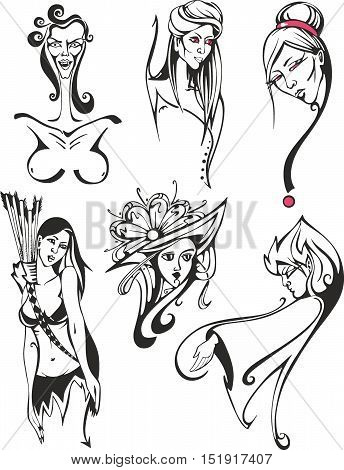 Fantasy Set Of Miscellaneous Women And Ladies