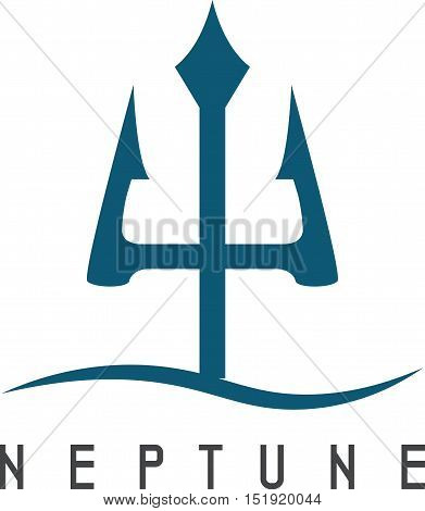 Vector Illustration Of Abstract Icon Neptune Trident