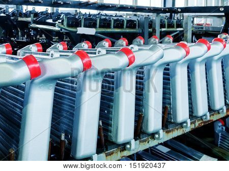 Pickup truck parts production line radiator finished