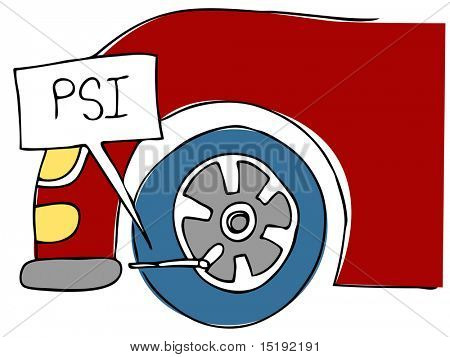 An image of a PSI tire pressure.