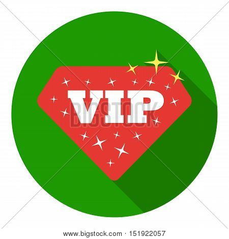 VIP icon in flat style isolated on white background. Label symbol vector illustration.