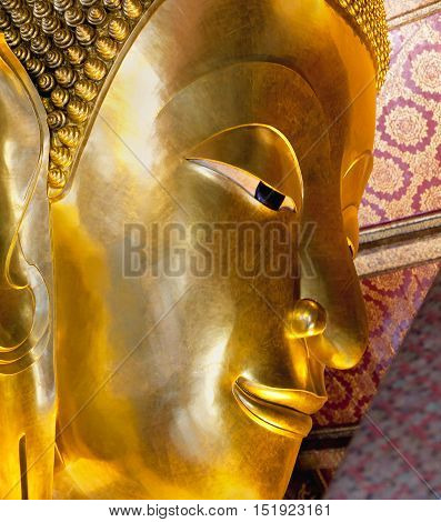 Reclining Buddha In Wat Pho, Thailand