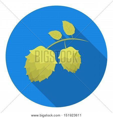 Hops icon in flat style isolated on white background. Oktoberfest symbol vector illustration.
