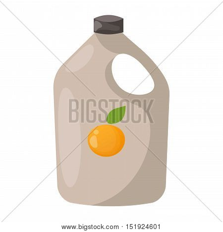 Orange juice drink with fresh fruit in pack. Fresh orange juice drink vector and cocktail with orange fresh drink. Fresh drink orange juice with orange juice drink