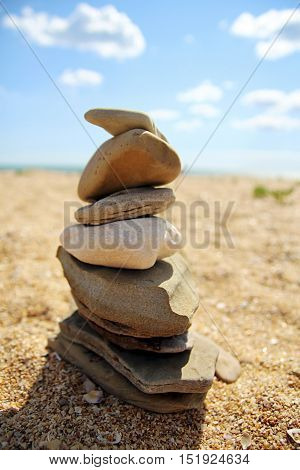 The Balanced Design Of Seashore Stones
