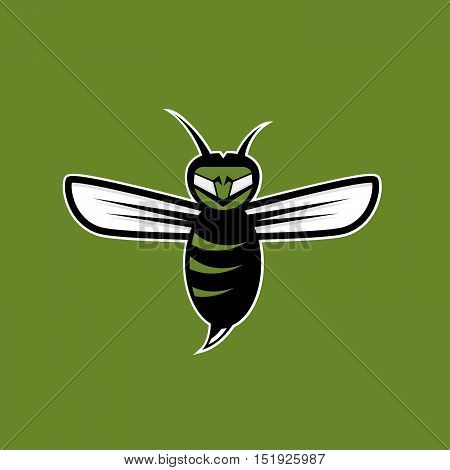 Agressive Bee Or Wasp Mascot Vector Design Template