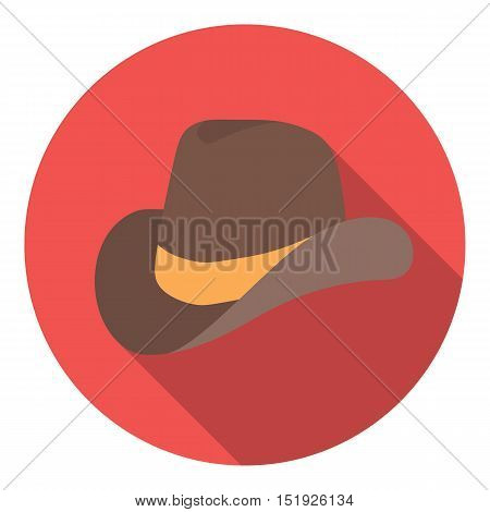 Cowboy hat icon in flat style isolated on white background. Patriot day symbol vector illustration.