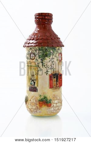 Handmade Objects Decorated Using Different Techniques Of Decoupage