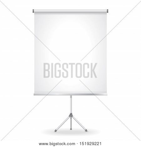 Blank presentation and Projection screen illustration isolated on white