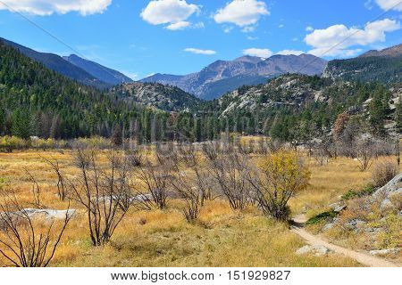 Alpine Landscape In The Fall Season