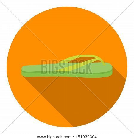 Flip-flops icon in flat style isolated on white background. Shoes symbol vector illustration.