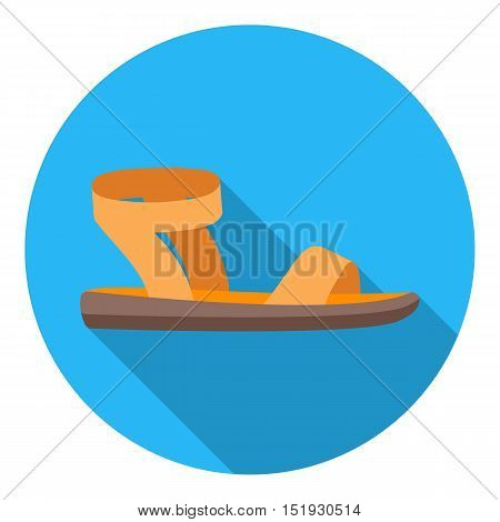 Woman sandals icon in flat style isolated on white background. Shoes symbol vector illustration.