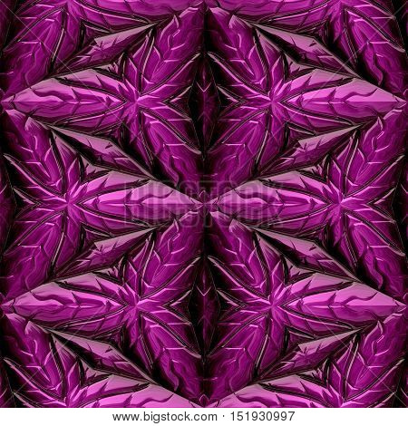 Seamless texture of pink Mayan ornaments / background