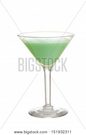 isolated grasshopper cocktail on a white background