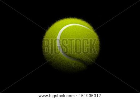 Tennis ball concept,Tennis ball on black background. 3D illustration