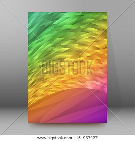 Background Report Brochure Cover Pages A4 Style Abstract Glow58