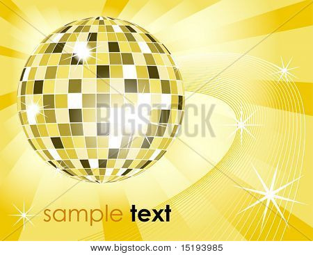Retro-Disco-Kugel Hintergrund - Vektor-illustration