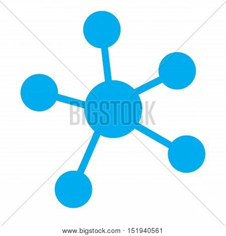 business blue network icon. business network on white background.