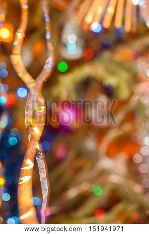 Christmas and New Year's background. Abstract blurred background with bokeh.