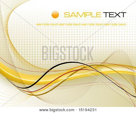 yellow abstract composition - vector illustration