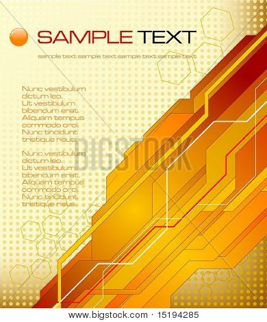 abstract futuristic background - vector illustration