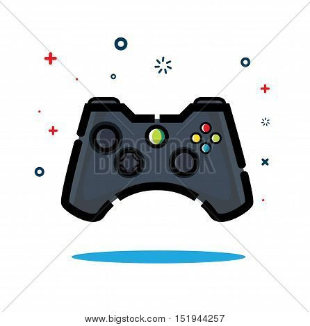 Controller game console Icon vector simply design and fresh trend