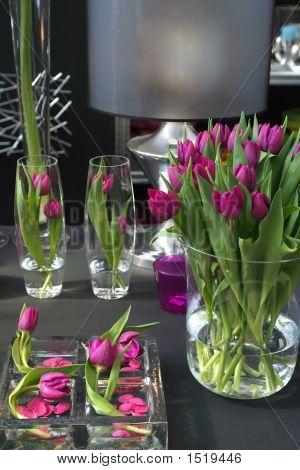 Tulpen im Innenraum