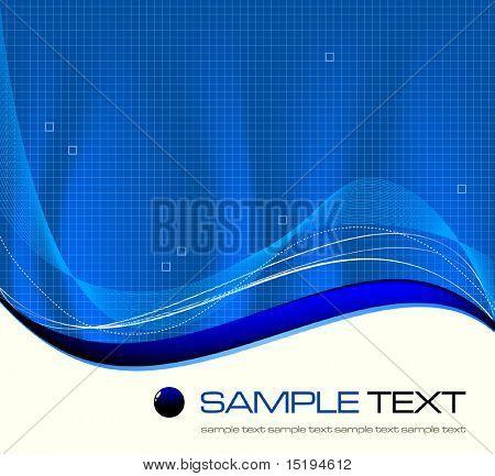 blue background composition - vector illustration - jpeg version in my portfolio