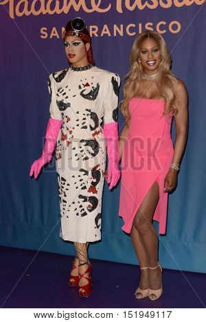 LOS ANGELES - OCT 13:  Laverne Cox unveils her restyled