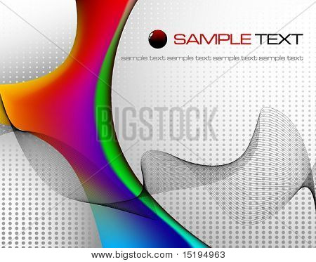 tech abstract composition - vector illustration - jpeg version in my portfolio