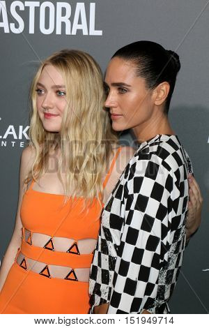 LOS ANGELES - OCT 13:  Dakota Fanning, Jennifer Connelly at the