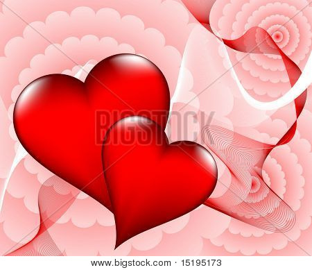 Valentine's day card - vector illustration - jpeg version in my portfolio
