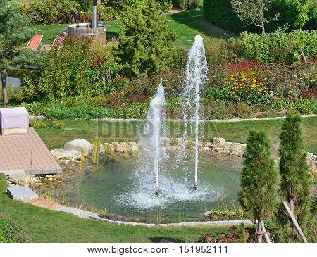 view of the relaxing garden Lower Austria Austria