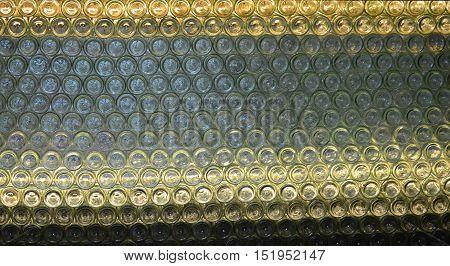 wall of bottles from the wine region of Lower Austria Austria