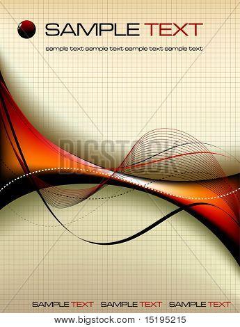 Composición abstracta - ilustración vectorial