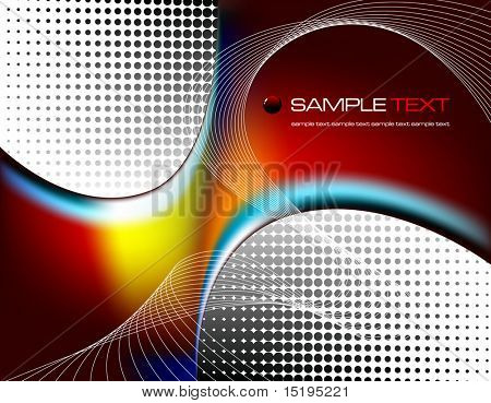 abstract composition - vector illustration