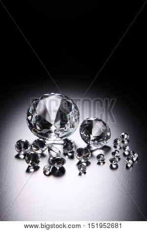 Luxury diamonds on black backgrounds