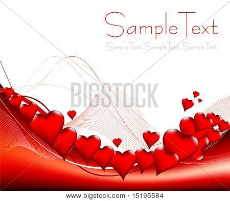 Valentine's day card - vector illustration - jpeg version in my portfolio