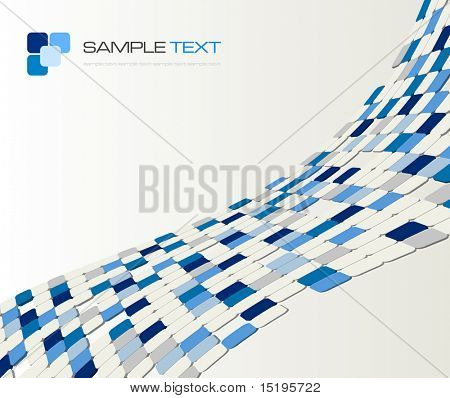3d background composition - vector illustration - jpeg version in my portfolio