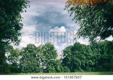 Ideal landscape with modern treatment. Blurring background.