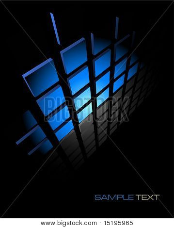 black and blue abstract background composition - vector illustration - jpeg version in my portfolio