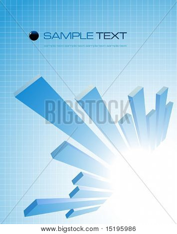 abstract business composition - vector illustration - jpeg version in my portfolio