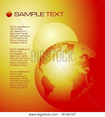 3d planet Earth composition - vector illustration