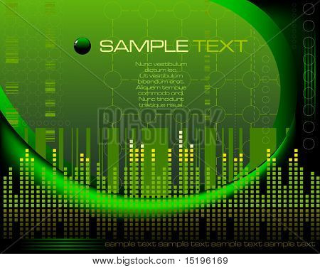 green tech abstract background - vector illustration