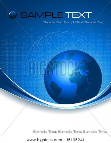 blue business background - vector illustration
