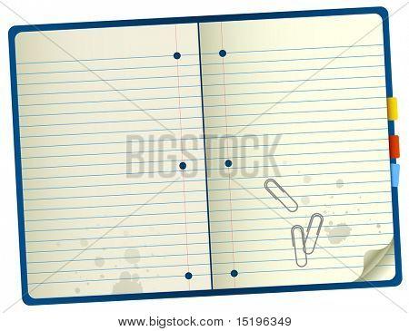 Notebook realista - ilustração vetorial
